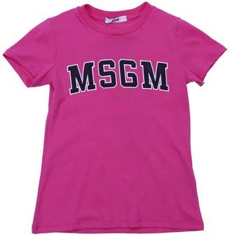 MSGM Fuchsia Cotton Jersey T-shirt