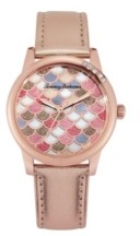 Tommy Bahama Women's Island Mosaic Rose Gold Leather Strap Watch, 36mm