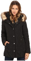Jessica Simpson Quilted Down with Faux Fur Trim