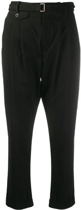 Low Brand Cropped Tapered-Leg Trousers