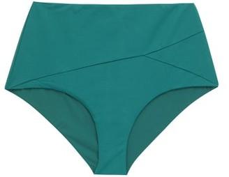Marysia Swim Lehi Panelled High-rise Bikini Briefs - Womens - Blue