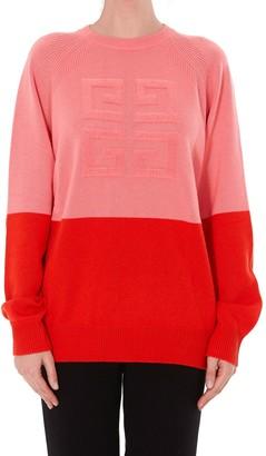 Givenchy 4g Logo Bicolor Cashmere Pullover