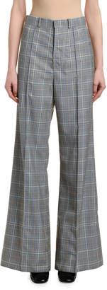 Marni Check High-Rise Flare Pants