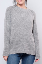 B.young Plush Mock Neck Pullover