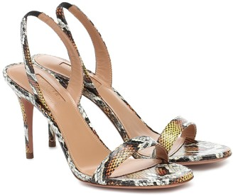Aquazzura So Nude 85 snakeskin sandals