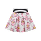 MonnaLisa MonnalisaGirls White & Pink Daisy Skirt