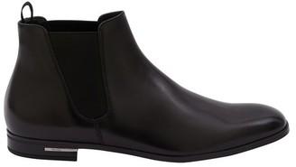 Prada Calfskin Ankle Boots