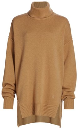 St. John Asymmetric Cashmere Turtleneck Sweater