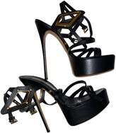 Gianmarco Lorenzi Black Leather Sandals