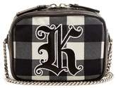Christopher Kane Embroidered gingham cross-body bag