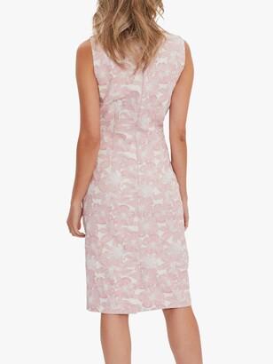 Gina Bacconi Gretel Jacquard Shift Dress, Pink