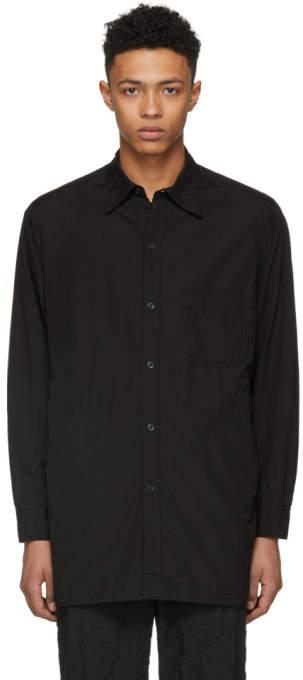 Yohji Yamamoto Black Open Chain Shirt
