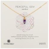 Dogeared Peaceful Gem Amethyst Necklace