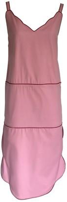 Onelady Colorful Midi Dress Pink Drica