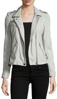 Rebecca Taylor Washed Lamb Leather Moto Jacket