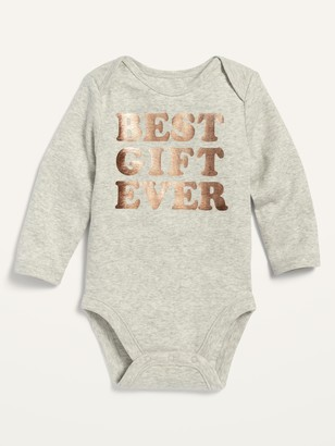 Old Navy Unisex Graphic Long-Sleeve Bodysuit for Baby