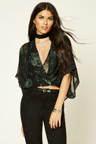 Forever 21 FOREVER 21+ Contemporary Floral Wrap Top