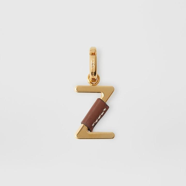 Burberry (バーバリー) - Burberry レザーラップ「Z」アルファベットチャーム