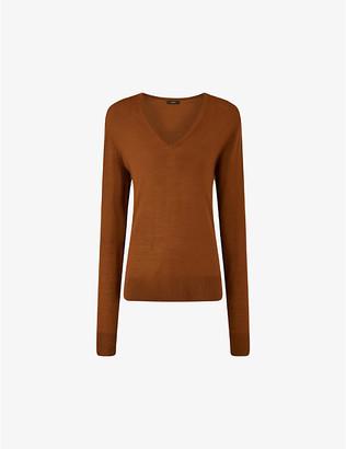 Joseph Fine Merinos V-neck wool jumper