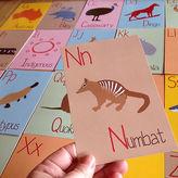 NEW Australian alphabet flash cards (set of 26) Men's by Mokoh Design