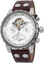 Burgmeister Men's BM136-984 Limoges Stainless Steel Watch With Brown Leather Band
