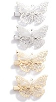 Berry Set Of 4 Butterfly Clips