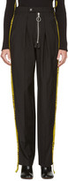 Off-White Black Zipped Reconstructed Trousers
