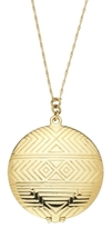 House of Harlow 1960 - Gold Plated Medallion Locket **Backorder**