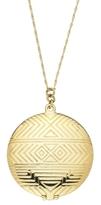 Kitson House of Harlow 1960 - Gold Plated Medallion Locket **Backorder**