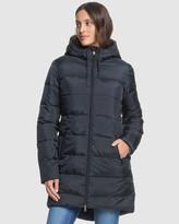Roxy Womens Southern Night Sherpa Longline Puffer Jacket