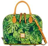 Dooney & Bourke Montego Coated Cotton Zip Zip Satchel