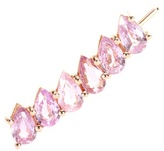 Ileana Makri 18kt Rose Gold Single Earring With Pear-cut Pink Sapphires