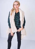 Missy Empire SP Cream Waterfall Shearling Gilet