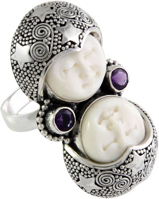 Novica Artisan Crafted Sterling Double Visage Ring