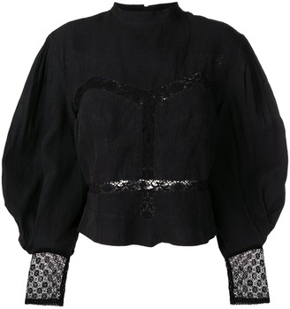 Isabel Marant Long-Sleeve Embroidered Blouse