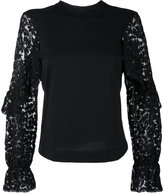 See by Chloe lace embroidered blouse - women - Cotton - M