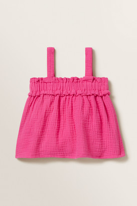 Seed Heritage Cheesecloth Frill Top