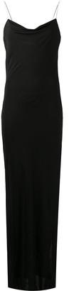 Balmain Crystal-Embellished Slip Dress
