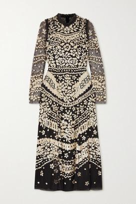 Needle & Thread Anais Sequin Ballerina Ruffled Embellished Tulle Midi Dress