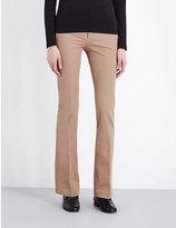 Joseph New Rocket flared stretch-gabardine trousers