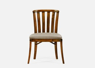 Jonathan Charles Fine Furniture Curved Back Solid Wood Dining Chair Frame Color: Country Farmhouse Walnut