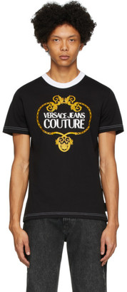 Versace Black Barocco Chain T-Shirt