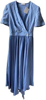 Sandro Spring Summer 2020 Blue Linen Dresses