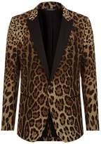 Dolce & Gabbana Leopard Print Martini Jacket