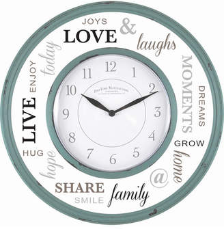 FirsTime & Co Family Glass Wall Clock