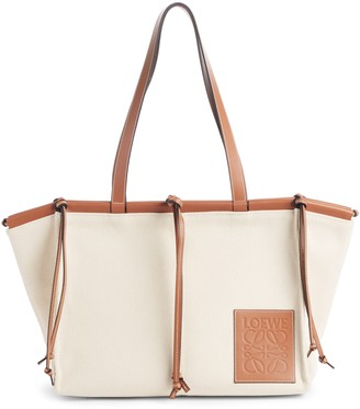 Loewe Cushion Leather Convertible Gusset Tote