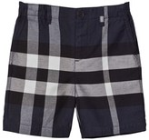 Burberry Navy Classic Check Shorts