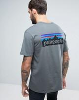 Patagonia P-6 Back Logo T-shirt Regular Fit In Nouveau Green