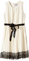 Us Angels Sleeveless Pleated Chiffon Dress w/ Lace Trim Skirt (Big Kids)