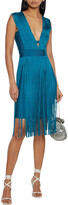 Thumbnail for your product : Herve Leger Fringed Cutout Bandage Dress